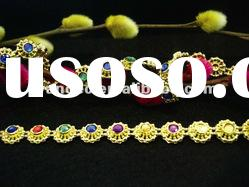 mix color acrylic rhinestone cup chain