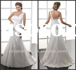 new style one shoulder bridal gown wedding dress wedding wear WD-871