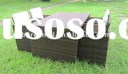 outdoor rattan dining table set