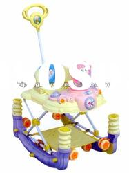 plastic folding baby walker with music