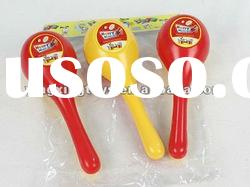 plastic kids musical sand hammer toy