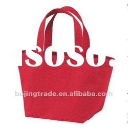 red plain canvas tote bags
