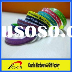 spray paint and multicolor Silicone Bracelet Debossed with Color Fill