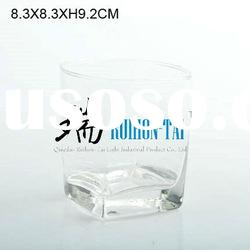 square tumbler glass with high quality
