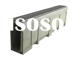 stainless steel grating polymer concrete drainage channel for floorway