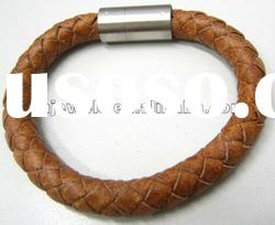 stylish jewelry braided leather bracelet for men and women wholesale