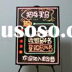 tempered glass led writing board for shops