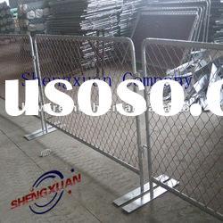 temporary fence (red PVC coated chain link mesh and hot dipped galvanized frame)