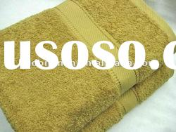 100%cotton plain dyed bath towel
