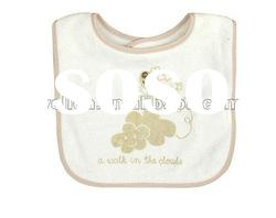 100% cotton terry with printed cute lamb baby bibs