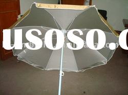 170T polyester beach umbrella packed with fabric pouch