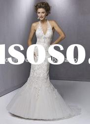 2011 New style charming satin and tulle Mermaid wedding dress (WD10194)