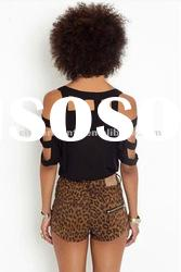 2012 Hot Selling Fashion woman's Cut It Out Top / top