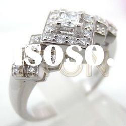 2012 Hot sale factory handmade artistical design fashion 925 sterling silver ring jewelry (R5384)