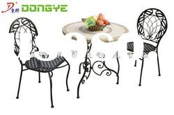 2012 Outdoor furniture Round Marble Bistro Table Set