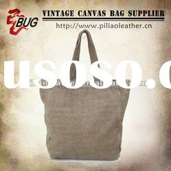 2012 Simple&Vintage Look Cotton Canvas Tote Bag For Men/Women Good For Shopping