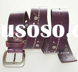 2012 fashion genuine leather alloy buckle belt