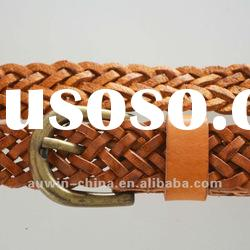 2012 fashion ladies genuine leather fashion braided belt