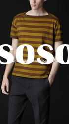 2012 fashion mens Relaxed in striped cotton athletic fit t-shirts