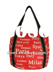 2012 latest souvenir canvas tote bag