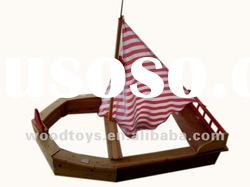 2012 new big wooden boat for kid, wooden toys