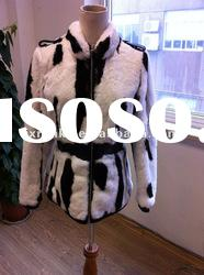 2012 new fashion real fur coat for women