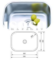304 stainless steel single bowl kitchen sink 5036B