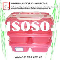 3-Layers plastic Lunch Box With Handle,food box mould