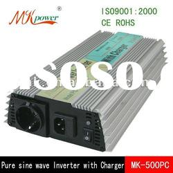 500W 12VDC/220VAC Pure sine wave power inverter with charger