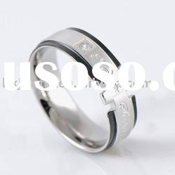57MM SIZE 10 STAINLESS STEEL CZ BAND RING