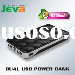 6800mAh portable mobile charger for iPhone, iPad, smart phones