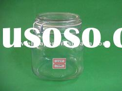 700ml glass food jar with airtight clamp lid