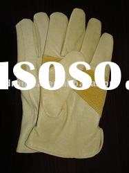"9.5"" AB pigskin driver style safety leather glove"