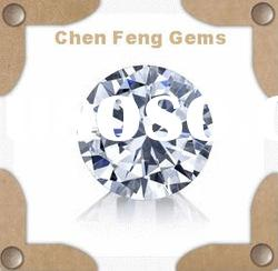 AAA white round machine cut cubic zirconia