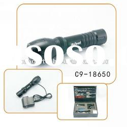Adjustable Focus Rechargeable Zoom Cree Led Flashlight