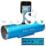 Aluminum Straight Speaker with USB/Micro SD Card Reader/for iPhone 4, for iPhone 3G/3GS, for iPhone