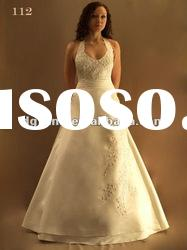 Best Selling Gorgeous Halter Ball Gown wedding dress 2012