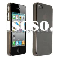 Black Ultra Thin Crystal Case Cover for the iPhone 4