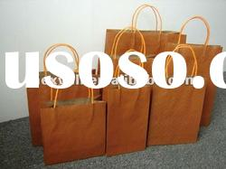 Brown kraft paper bags with twist handle