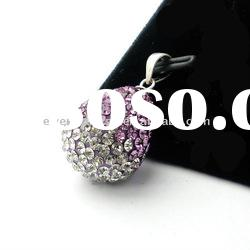CHARM pedants , 925 sterling silver crystal necklace pendant