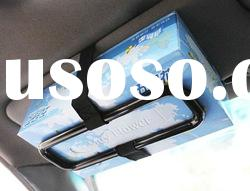 Car sun visor Tissue paper box holder Auto seat back accessories hold clip