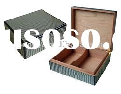Carbon Fiber Wooden Humidor Box