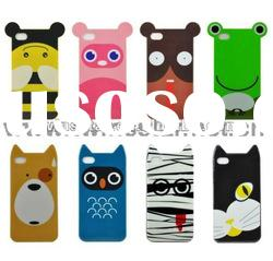 Cartoon TPU case for iphone 4 Anlimals soft case