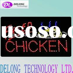 China supplier of led FRIED CHICKEN sign