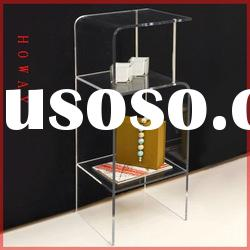 Clear Acrylic Staccato Shelf,acrylic magazine display rack,rolling display,floor display