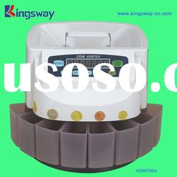 Coin counter&sorter with digital LCD display