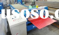 Colored steel Corrugated roof panel roll forming machine