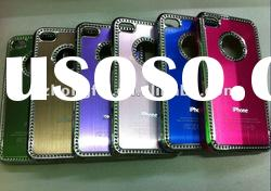 Colorful & Fancy ALUMINUM METAL(with Hole) Hard Case for Apple iPhone