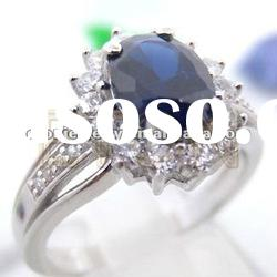 Costume handmade good quality nickle free fashion 925 sterling silver ring jewelry (R5584)