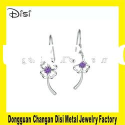 Disi Fashion Four-leaf Clover Crystal Earring,Switzerland Crystal Jewelry